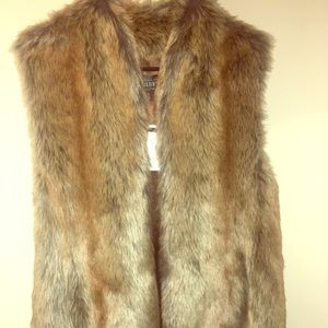 Long fur vest from Wilson's leather